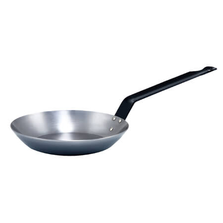 "Winco 9-1/2"" French Style Carbon Steel Fry Pan"