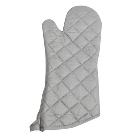 "17"" Quilted Silicone Oven Mitt"