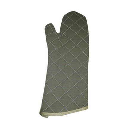 "15"" Quilted Flame Retardant Oven Mitt"
