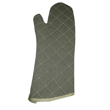 "17"" Quilted Flame Retardant Oven Mitt"
