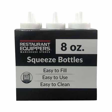 8 oz. Clear Squeeze Bottle 6-Pack
