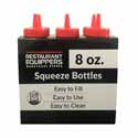 8 oz. Red Squeeze Bottle 6-Pack
