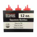 12 oz. Red Squeeze Bottle 6-Pack