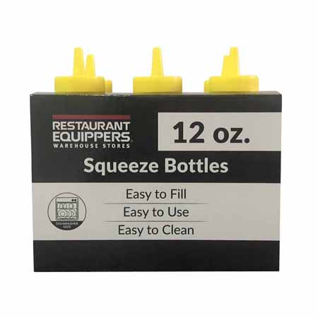 12 oz. Yellow Squeeze Bottle 6-Pack