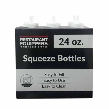 24 oz. Clear Squeeze Bottle 6-Pack