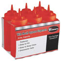 16 oz. Red Wide Mouth Squeeze Bottle 6-Pack