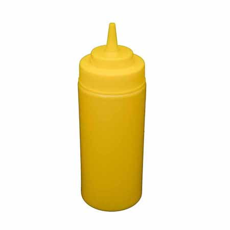16 oz. Yellow Wide Mouth Squeeze Bottle 6-Pack