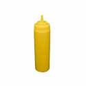 24 oz. Yellow Wide Mouth Squeeze Bottle 6-Pack