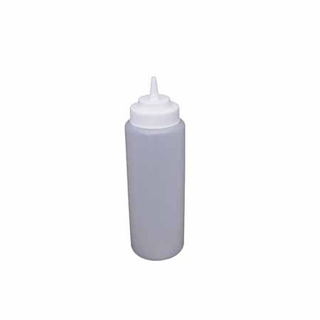 32 oz. Clear Wide Mouth Squeeze Bottle 6-Pack
