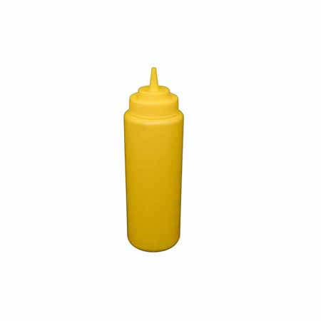 32 oz. Yellow Wide Mouth Squeeze Bottle 6-Pack