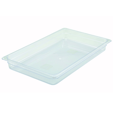 "Winco Full-Size Clear Food Pan 20-3/4""L X 12-1/2""W X 2-1/2""H"