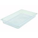 Winco Full-Size Clear Food Pan 20-3/4\x22L X 12-1/2\x22W X 2-1/2\x22H