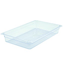 Winco Full-Size Clear Food Pan 20-3/4\x22L X 12-1/2\x22W X 4\x22H