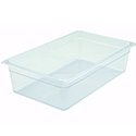 Winco Full-Size Clear Food Pan 20-3/4\x22L X 12-1/2\x22W X 6\x22H