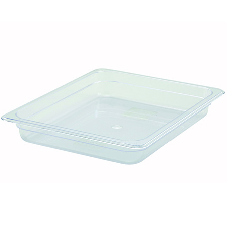 "1/2-Size Clear Food Pan 12-3/4""L X 10-1/4""W X 2-1/2""H"