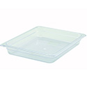 Winco 1/2-Size Clear Food Pan 12-3/4\x22L X 10-1/4\x22W X 2-1/2\x22H