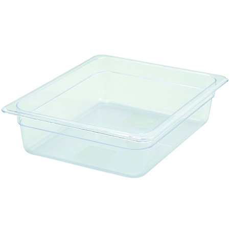 "1/2-Size Clear Food Pan 12-3/4""L X 10-1/4""W X 4""H"