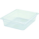Winco 1/2-Size Clear Food Pan 12-3/4\x22L X 10-1/4\x22W X 4\x22H