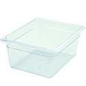 1/2-Size Clear Food Pan 12-3/4\x22L X 10-1/4\x22W X 6\x22H
