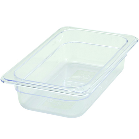 "1/4-Size Clear Food Pan 10-1/4""L X 6-1/4""W X 2-1/2""H"