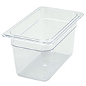 "1/4-Size Clear Food Pan 10-1/4""L X 6-1/4""W X 6""H"