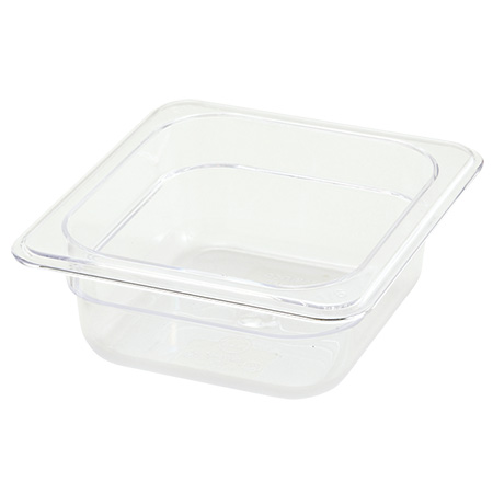 "1/6-Size Clear Food Pan 6-3/4""L X 6-1/4""W X 2-1/2""H"