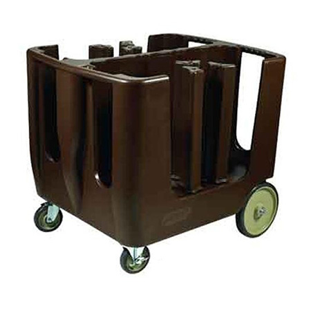 Brown Polyethylene Dish Caddy with 6 Adjustable Dividers