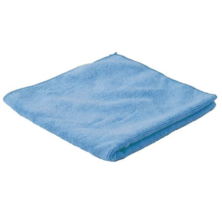 "16"" x 16"" Blue Microfiber Cleaning Cloth 12-Pack"