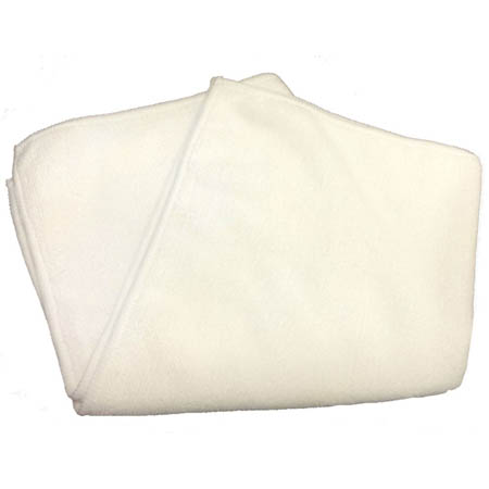 "16"" x 16"" White Microfiber Cleaning Cloth 12-Pack"