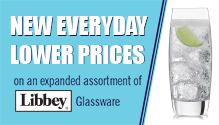 Libbey Glassware expanded assortment