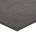 Apache Mills 3\' x 5\' Charcoal Carpeted Floor Mat for Single Door Entrance