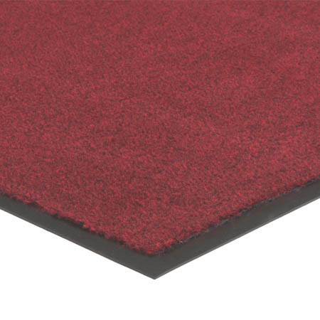 Apache Mills 3' x 5' Red Carpeted Floor Mat for Single Door Entrance