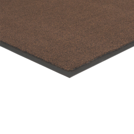Apache Mills 3' x 5' Brown Carpeted Floor Mat for Single Door Entrance