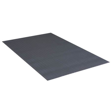 Apache Mills 3' x 5' Black Anti-Fatigue Kitchen Floor Mat