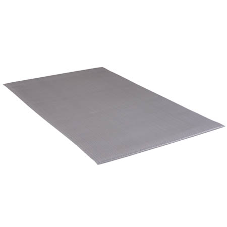 Apache Mills 3' x 5' Gray Anti-Fatigue Kitchen Floor Mat