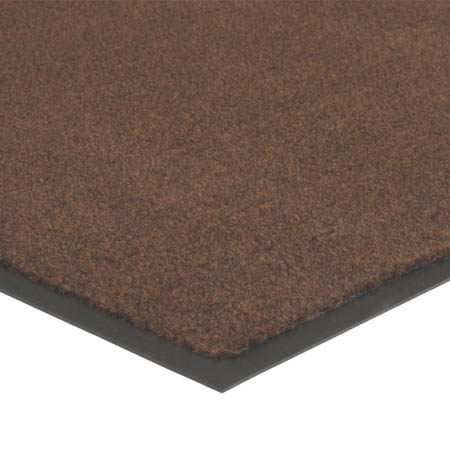 Apache Mills 4' x 6' Brown Carpeted Floor Mat for Double Door Entrance