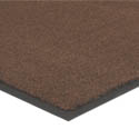 Apache Mills 4\' x 6\' Brown Carpeted Floor Mat for Double Door Entrance