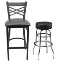Wood & Metal Bar Stools