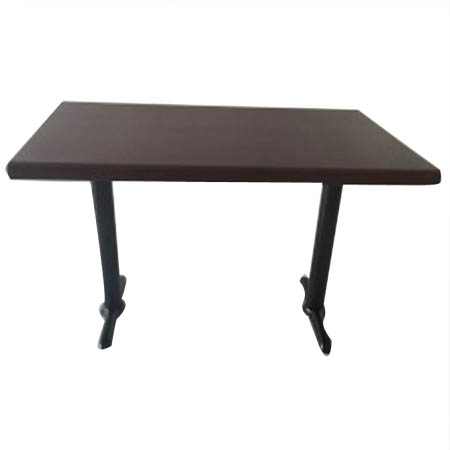 "30"" x 48"" Walnut 2 Column Resin Table Kit 41""H"