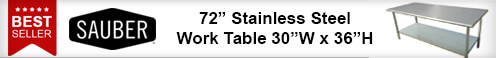 Best Selling Sauber Stainless Steal Work Table