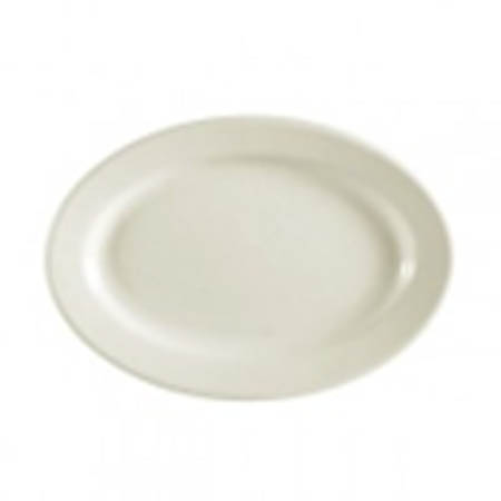"MCIC Chelsea 11-1/2"" American White Rolled Edge Platter"