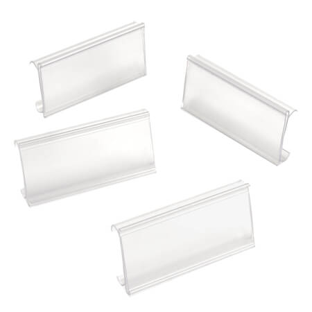 Nexel Clear Plastic Label Holder