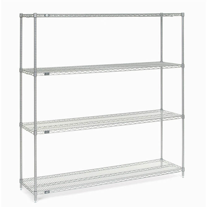 Nexel Chrome-Plated Wire Shelving Kit 14