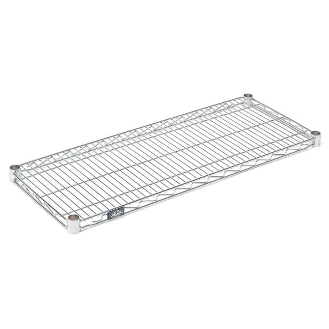 Coated Wire Shelving | Nexel Clear Poly Z Brite Zinc Coated Wire Shelving Section 18 W X 72 L