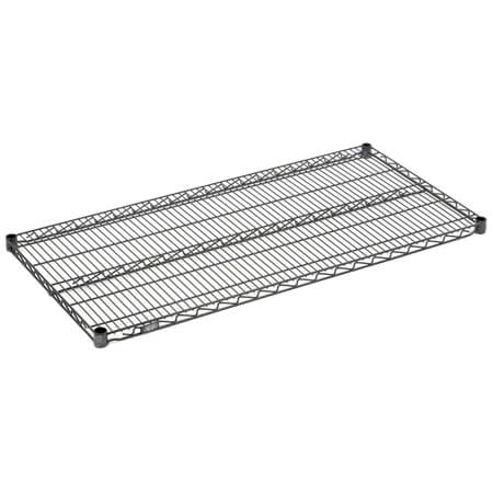 "Nexel Blue Nexelon Epoxy-Coated Wire Shelving Section 24""W x 36""L"