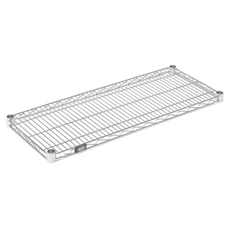 "Nexel Clear Poly-Z-Brite Zinc-Coated Wire Shelving Section 24""W x 42""L"
