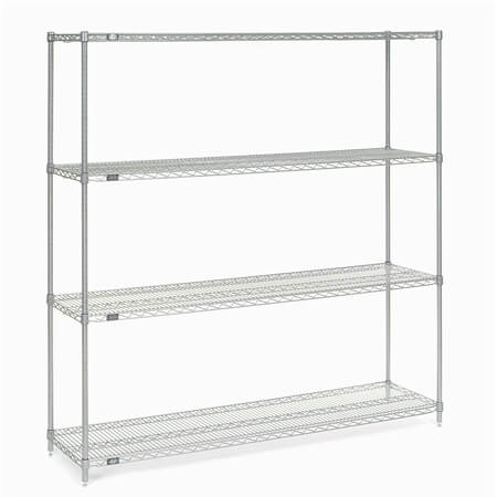 "Nexel Chrome-Plated Wire Shelving Kit 24"" x 72"""