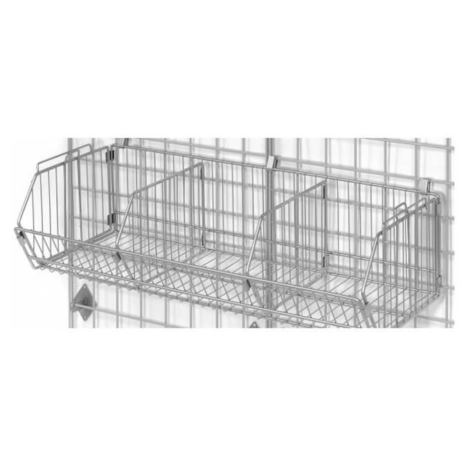 Wire Basket for use with Nexel Space Wall Shelving Panels 36\