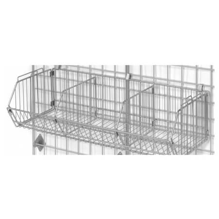 "Wire Basket for use with Nexel Space Wall Shelving  Panels 36"" x 14"" x 9"""