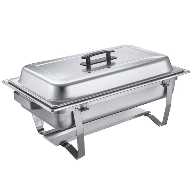 8-Quart Full Size Stainless Steel Chafer - By Bradford Hall